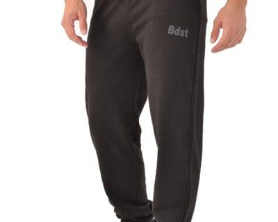 Παντελόνι φόρμας με λάστιχο στο πόδι σε μαύρο χρώμα