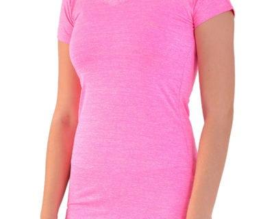 Γυναικείο αθλητικό μπλουζάκι gym fit σε φούξια χρώμα
