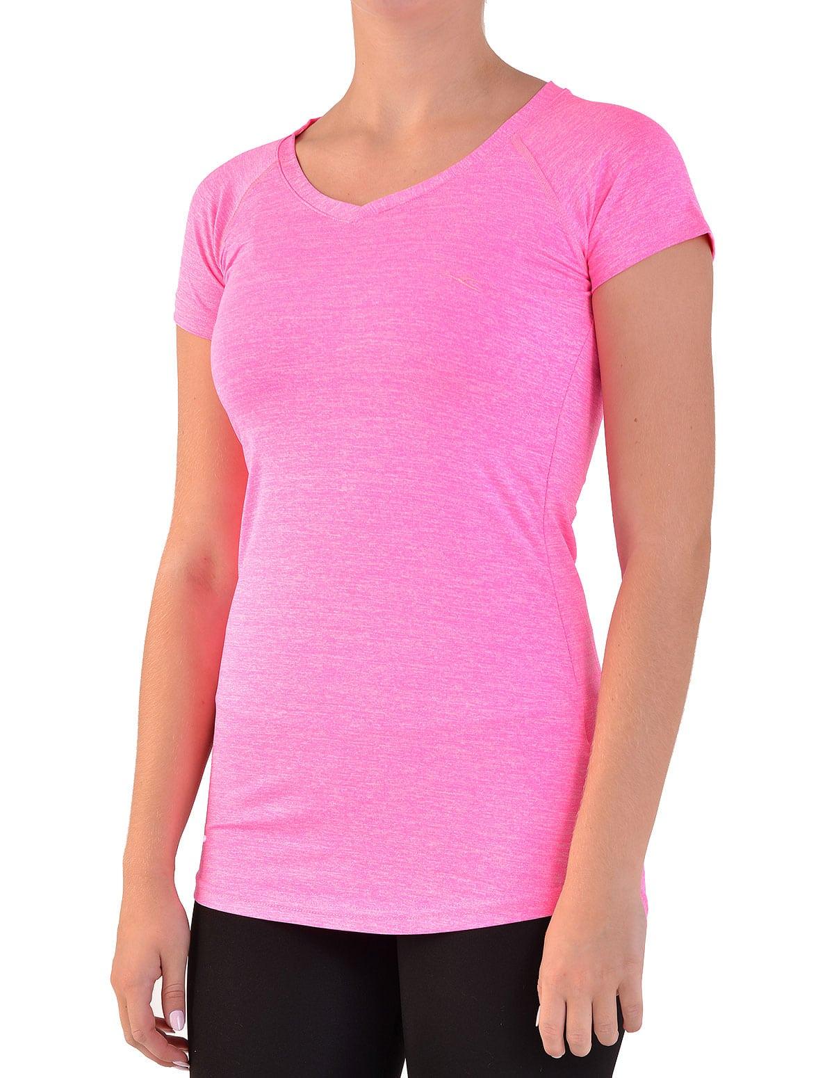 f033fbebc46 Γυναικείο αθλητικό μπλουζάκι gym fit σε φούξια χρώμα