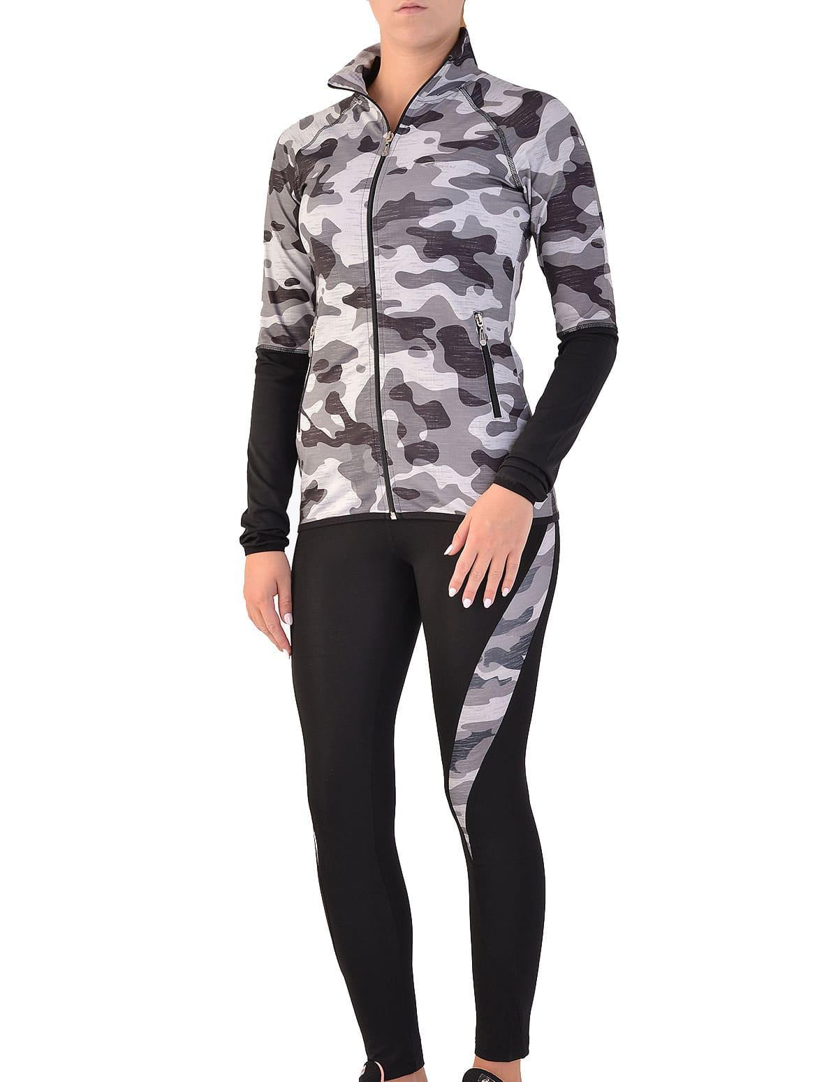 Γυναικείο σετ ζακέτα και κολάν με σχέδιο παραλλαγής - vactive.gr c8a004b51a3