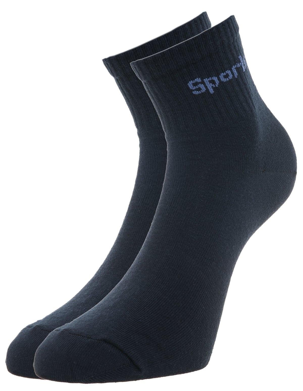 Ανδρική αθλητική κάλτσα ημίκοντη σε μπλε χρώμα - vactive.gr cfabe6775af