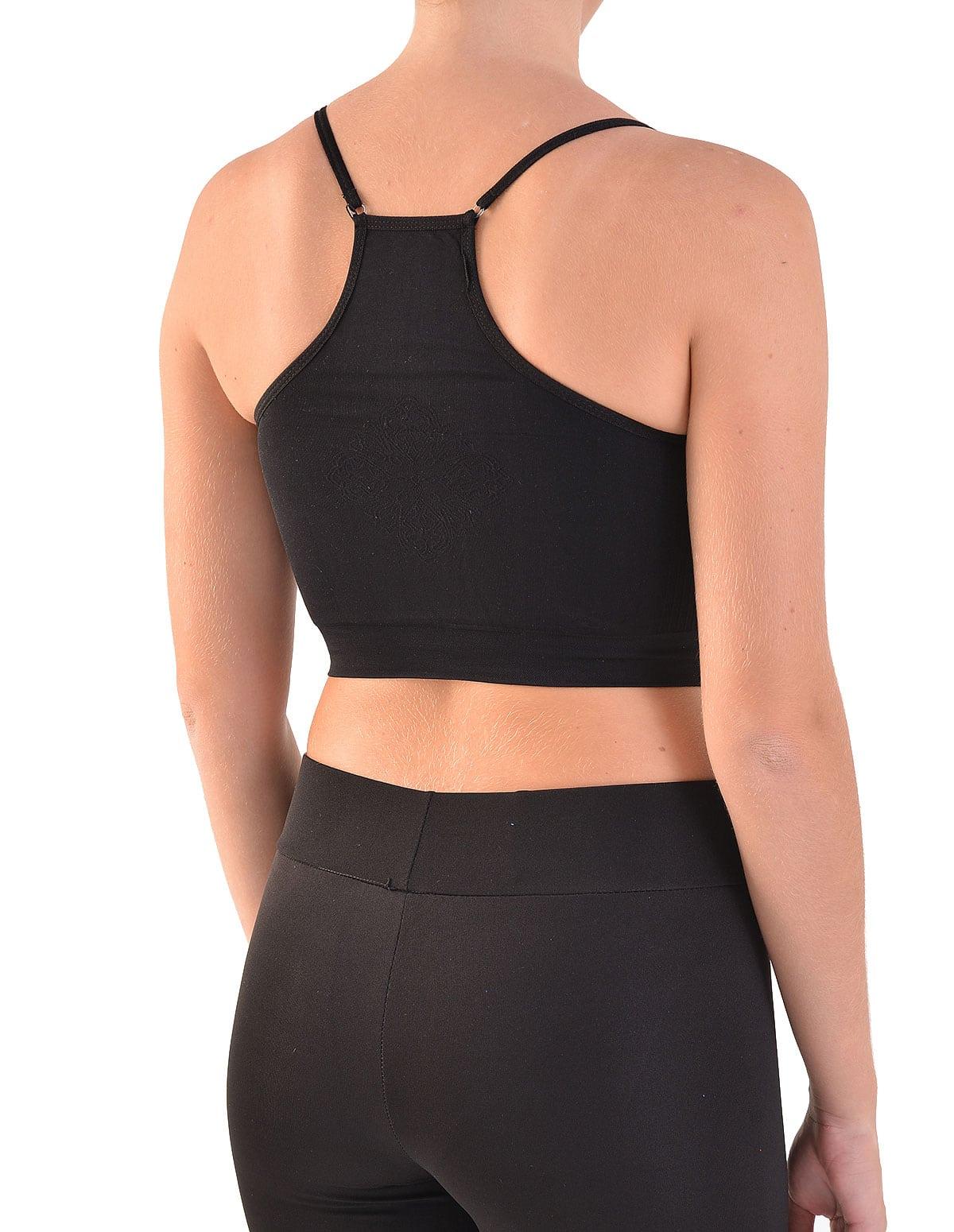 Home Γυναικεία Μπουστάκια Αθλητικά Γυναικείο αθλητικό μπουστάκι σε μαύρο  χρώμα 13f23117857