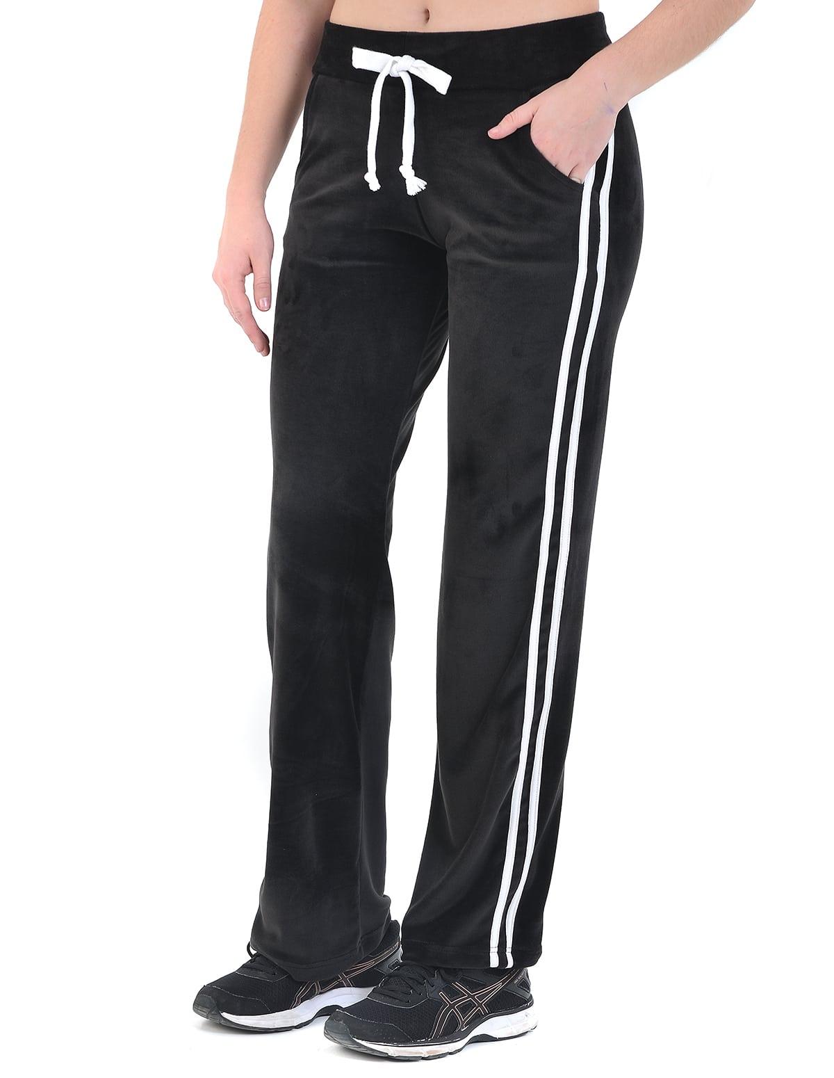 Γυναικείο παντελόνι φόρμας βελουτέ σε ίσια γραμμή χρώμα μαύρο - vactive.gr 2724f8ec4d8