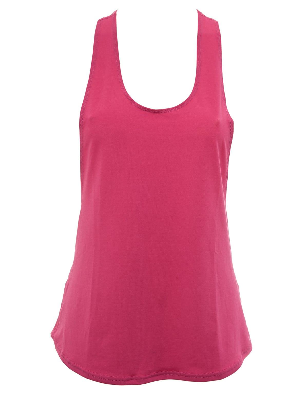 ed49182df81 Γυναικείο αθλητικό αμάνικο μπλουζάκι σε φούξια χρώμα