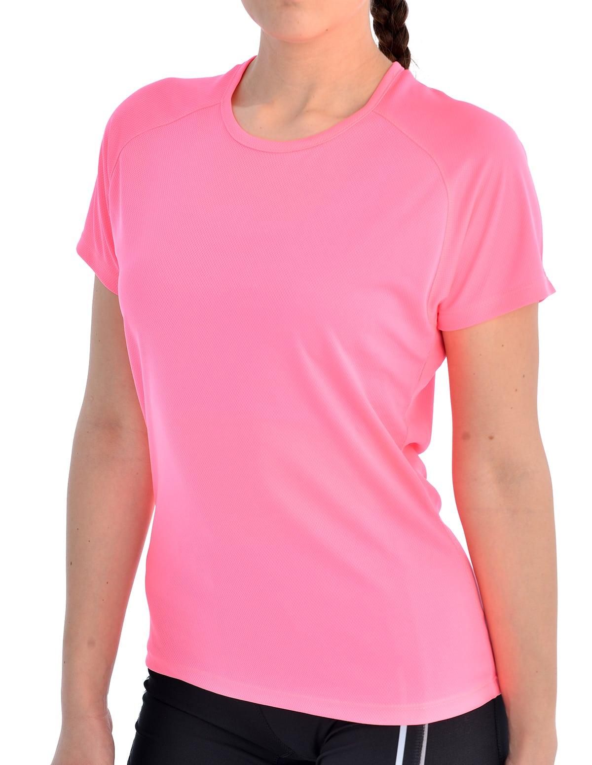 8e06116986d Γυναικείο αθλητικό dry fit μπλουζάκι σε φούξια χρώμα
