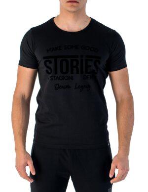 Ανδρικό κοντομάνικο μπλουζάκι σε μαύρο χρώμα 96a3944881a