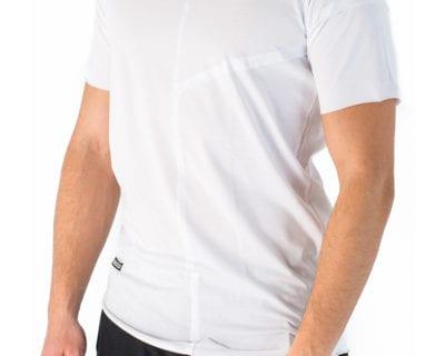 Ανδρικό κοντομάνικο μπλουζάκι σε λευκό χρώμα