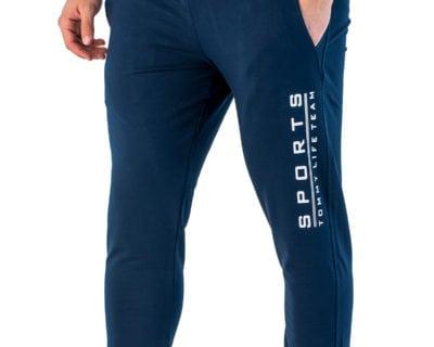 Ανδρικό παντελόνι φόρμας jogger σε μπλε χρώμα
