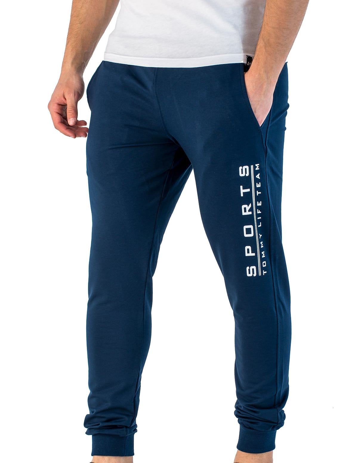 1b98f283277 Ανδρικό παντελόνι φόρμας jogger σε μπλε χρώμα - vactive.gr