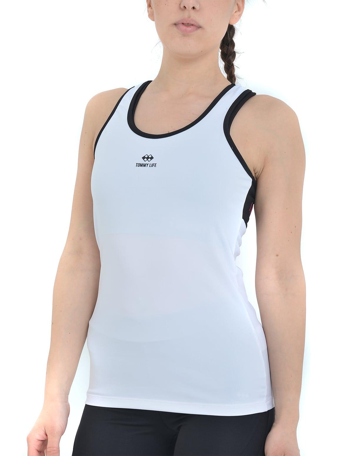 306ea1ff336f Γυναικείο αθλητικό μπλουζάκι σε λευκό χρώμα - vactive.gr