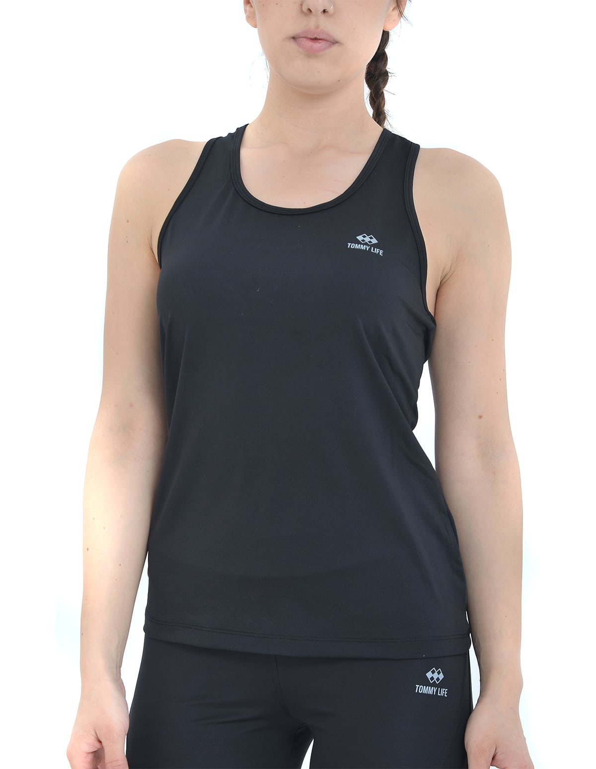 dddda5c20734 Home Γυναικεία T-Shirts και Μπλούζες Γυναικείο αθλητικό μπλουζάκι σε μαύρο  χρώμα