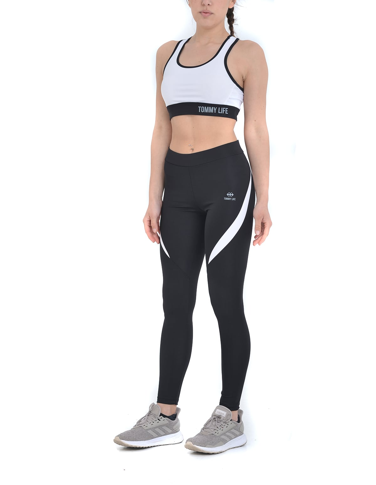 05f704c2c73 Αθλητικό σετ μπουστάκι και κολάν σε μαύρο-λευκό χρώμα - vactive.gr