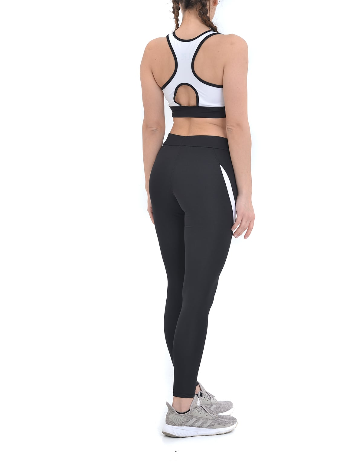 8f0a9e83d3f3 Home Γυναικεία Σετ κολάν Αθλητικό σετ μπουστάκι και κολάν σε μαύρο-λευκό  χρώμα