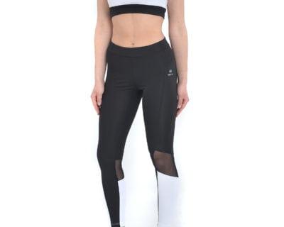 Αθλητικό σετ μπουστάκι και κολάν σε μαύρο-λευκό χρώμα