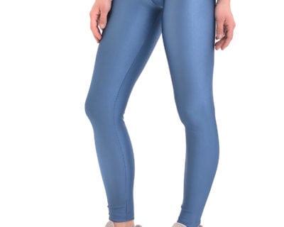 Γυναικείο αθλητικό κολάν gloss and shiny σε μπλε ρουά