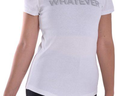 Γυναικείο κοντομάνικο μπλουζάκι σε λευκό χρώμα