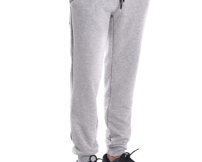 Παντελόνι φόρμας jogger με λάστιχο στο πόδι σε γκρι μελανζέ χρώμα
