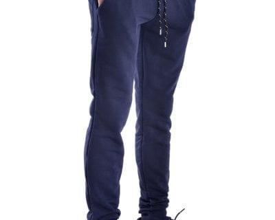 Παντελόνι φόρμας jogger με λάστιχο στο πόδι σε μπλε χρώμα