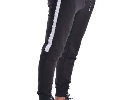 Παντελόνι φόρμας jogger με ρίγα σε μαύρο χρώμα