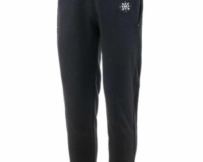 Παντελόνι φόρμας φούτερ σε μαύρο χρώμα με φερμουάρ