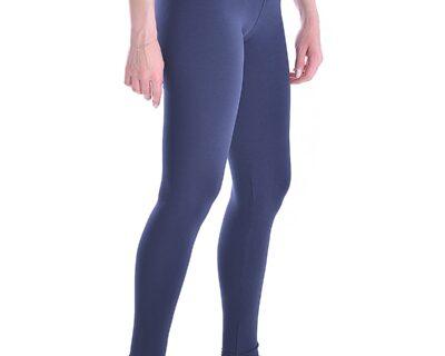 Γυναικείο ψηλόμεσο κολάν σε μπλε χρώμα