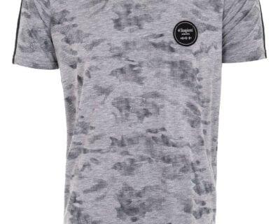 T-shirt σχέδιο militaire σε γκρι χρώμα